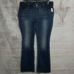 NEW old navy 14 maternity boot cut jeans